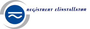 Nelfo registrert elinstallatør logo
